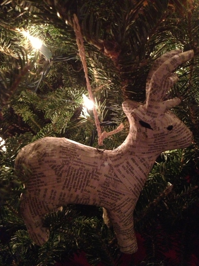 There's quite a few deer on our tree, but this guy is the biggest and baddest (in all the land/TJ Maxx)