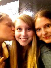 Caroline, Maria, and I at Macy's